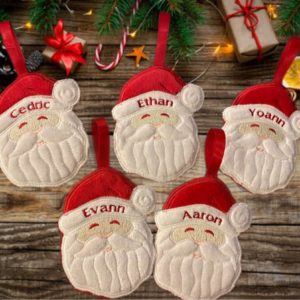 Décoration de Noël personnalisée Père Noel